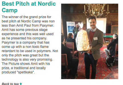 Nordic Cleantech Camp - Winner